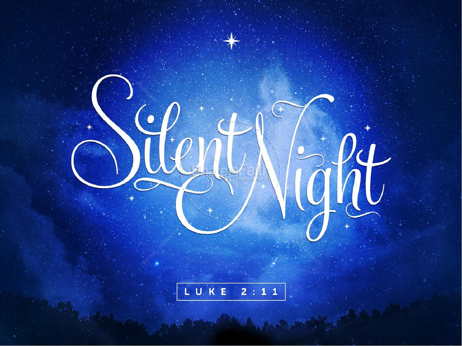 Silent Night Christmas Ppt Backgrounds