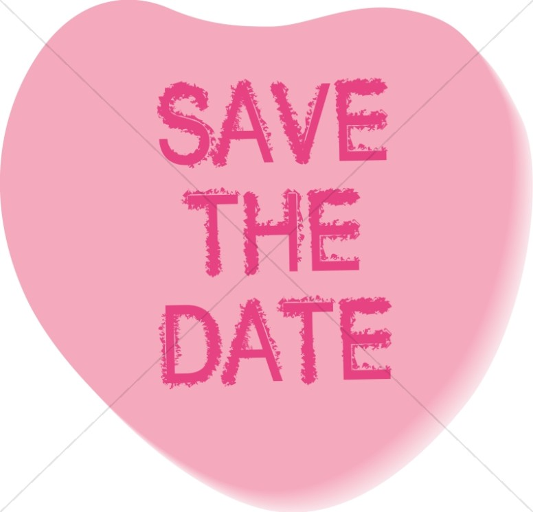 save the date candy heart wedding clipart