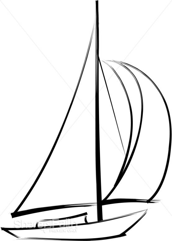 Wind Blowing Through Sails Church Activity Clipart