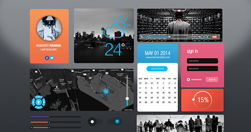 Ui Kit New York PSD素材