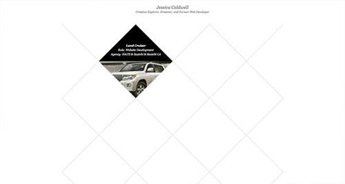 Jessica Caldwell 网页设计欣赏