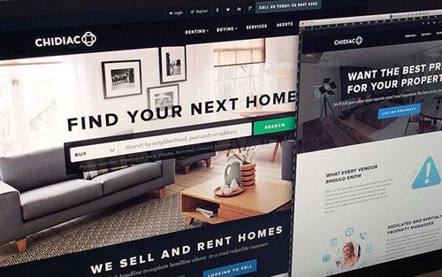 chidiac homepage dark interface layout 网站首页