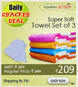 Super Soft Towel Set of 3