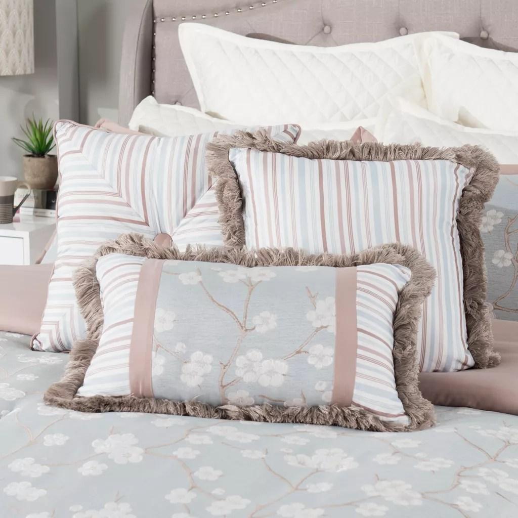 grand suites cherry blossom 3 piece decorative pillow set on sale at shophq com