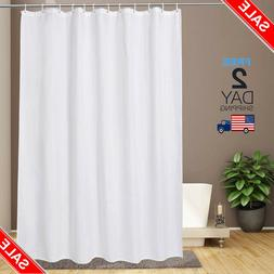 blue waterproof aoohome stall size 48x72 inch shower liner weighted hem fabric solid color bathroom curtain with hooks bathroom accessories bath