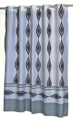 hookless shower curtain 84 inches long