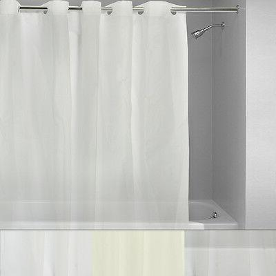 hookless shower curtain liner plastic