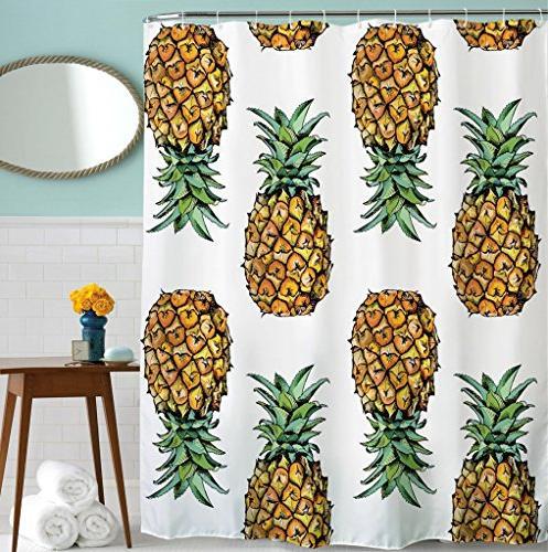 goodbath pineapple shower curtains
