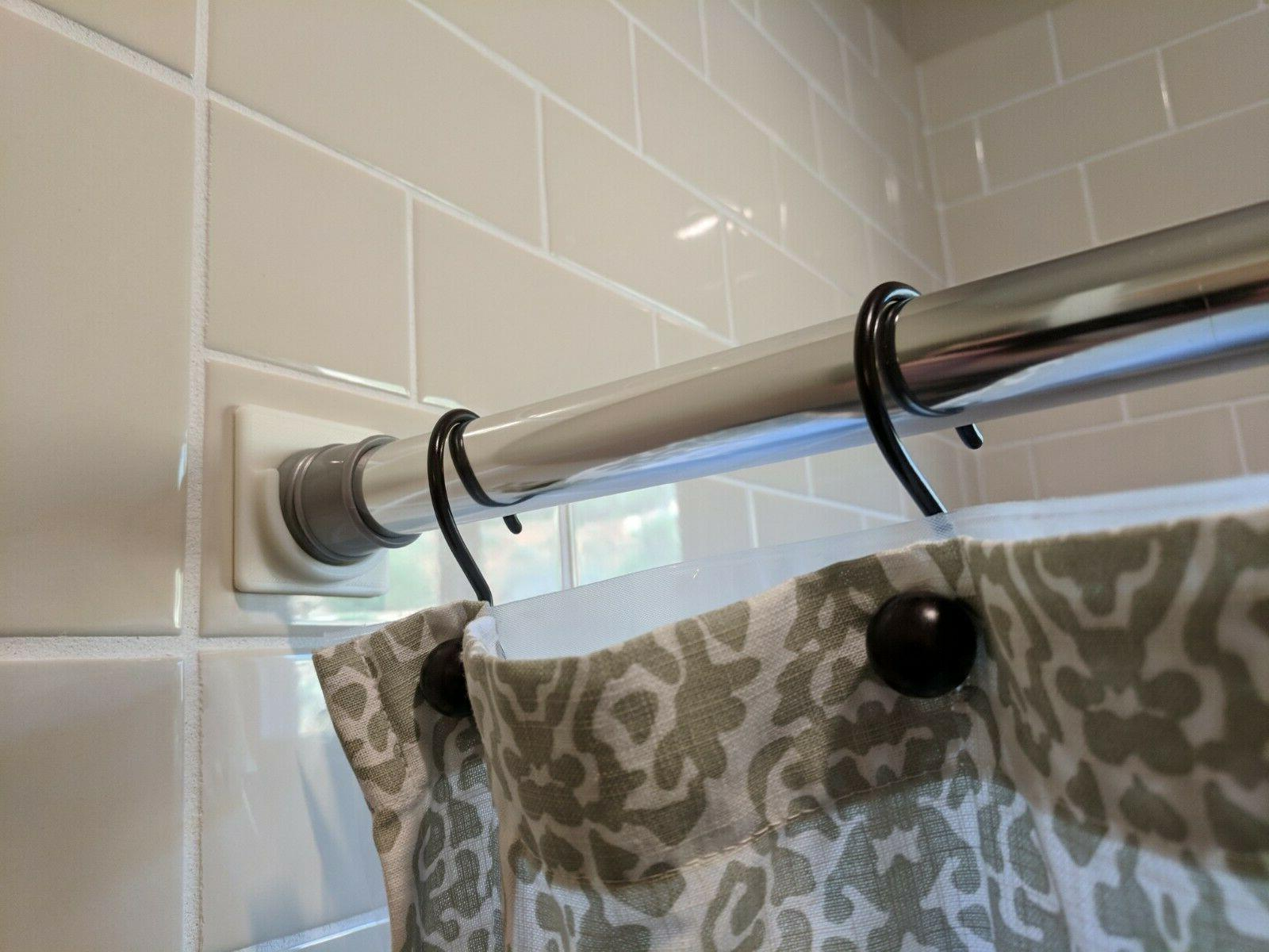 adhesive shower curtain rod holder no