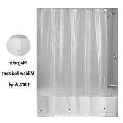 shower curtains hunter green heavy duty magnetized shower curtain liner mildew resistant home garden entsrilanka org