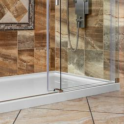 polished chrome 60 w x 36 d tile redi usa p3660c pvc base shower pan