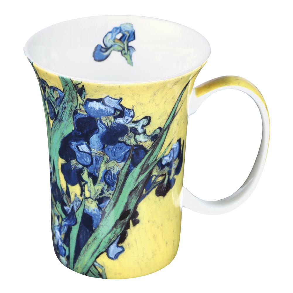 Colorful Bone China Van Gogh Paintings Set Of 4 10 Oz Mugs