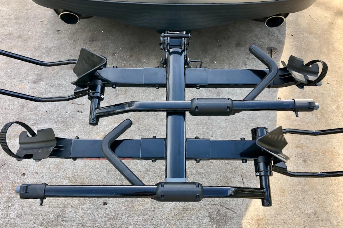 the yakima holdup evo bike rack can
