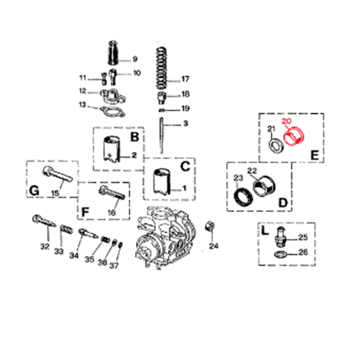 Air Filter Adapter Dell Orto For Carburettor Phbd E