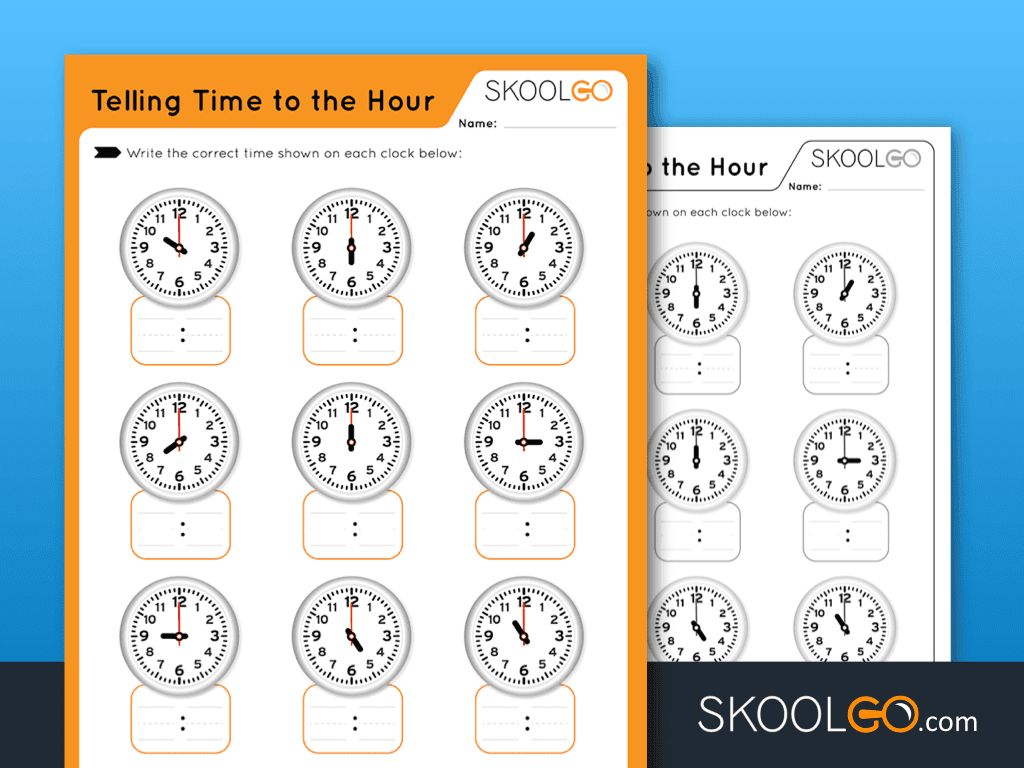 Telling Time To The Hour