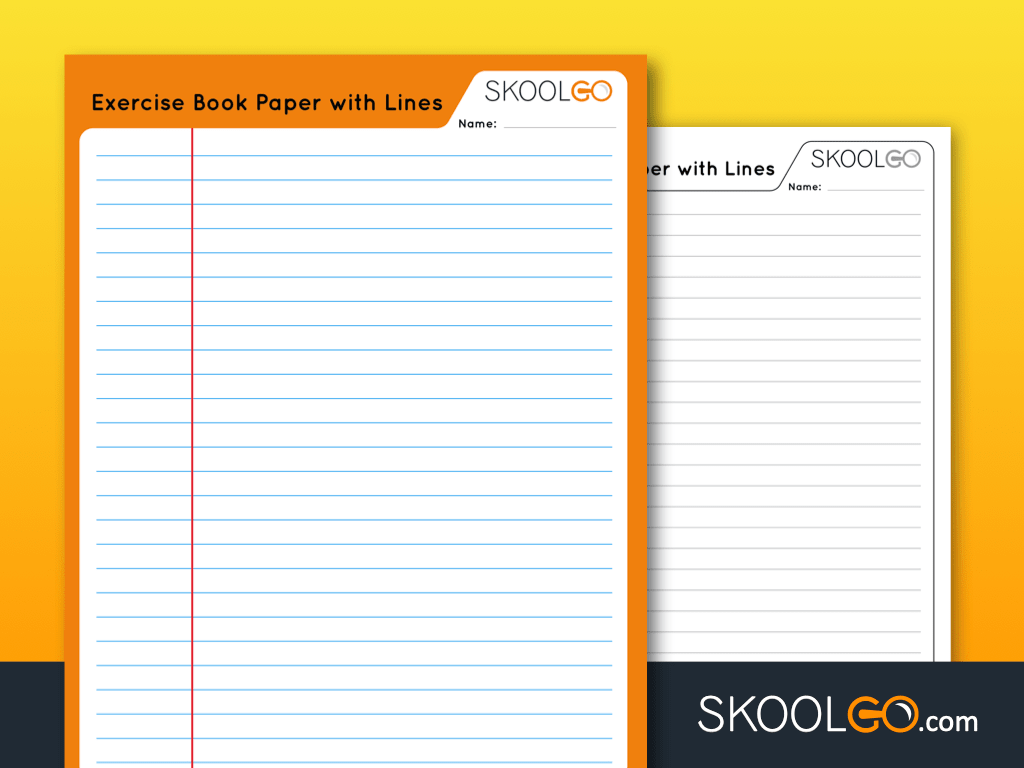 Exercise Book Paper With Lines