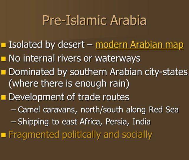 Pre Islamic