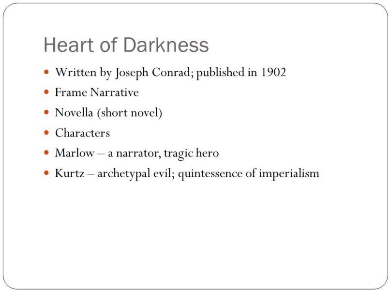 Narrative Framing In Heart Of Darkness | Framejdi.org