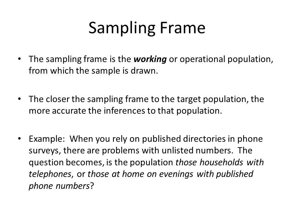 define sample frame | Framess.co