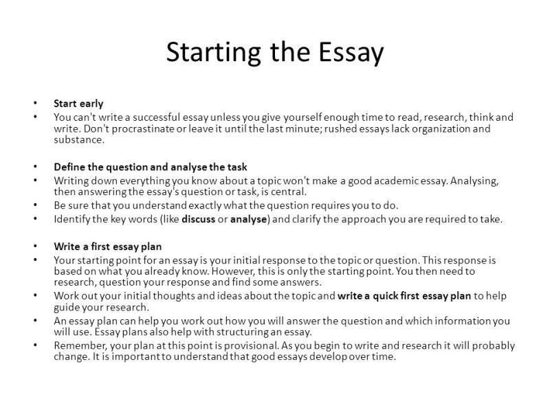 How You Start An Essay   Infoletter.co