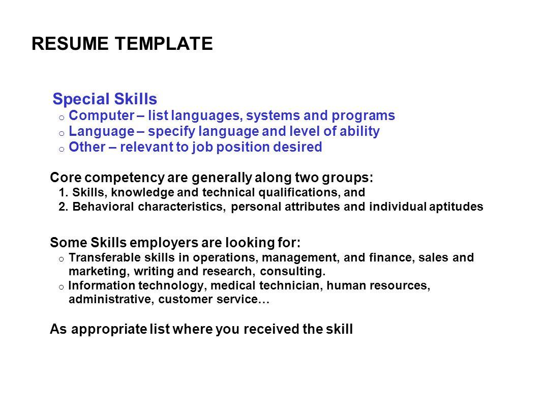 Trendy How To Write A Skills Resume   Brefash semangat ipnodns ru