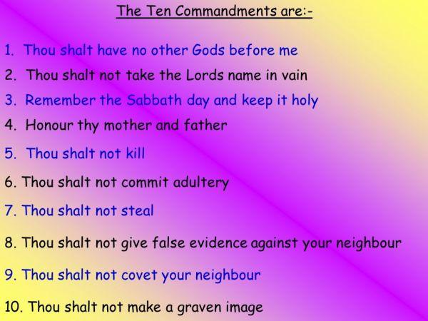 10 commandments of god # 36