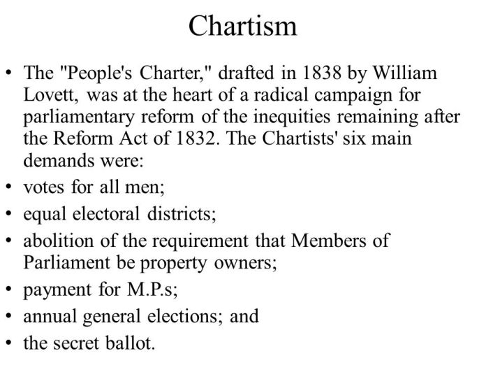 Billedresultat for peoples charter demands