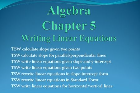 Free Standard Form Write An Equation In Slope Intercept Form