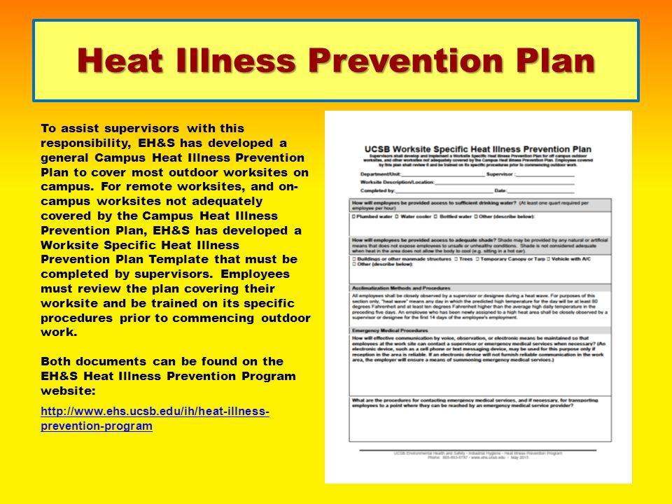 Ucsb Heat Illness Prevention Program Hipp Supervisor