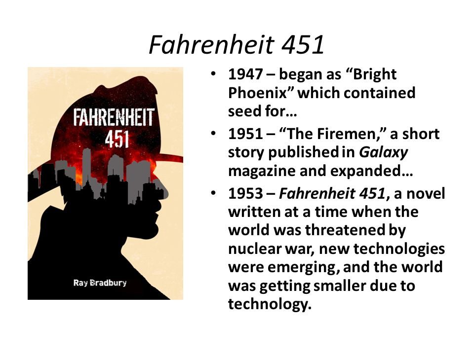 """An Introductory Powerpoint: Fahrenheit 451 by Ray Bradbury"" by Christine Samantha Anderson, SlidePlayer"