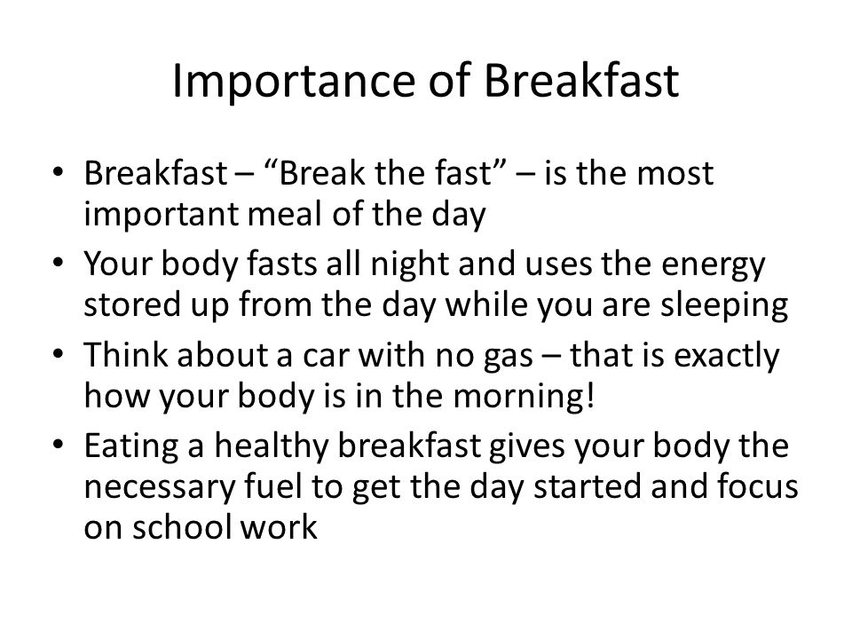 Image result for breakfast importance