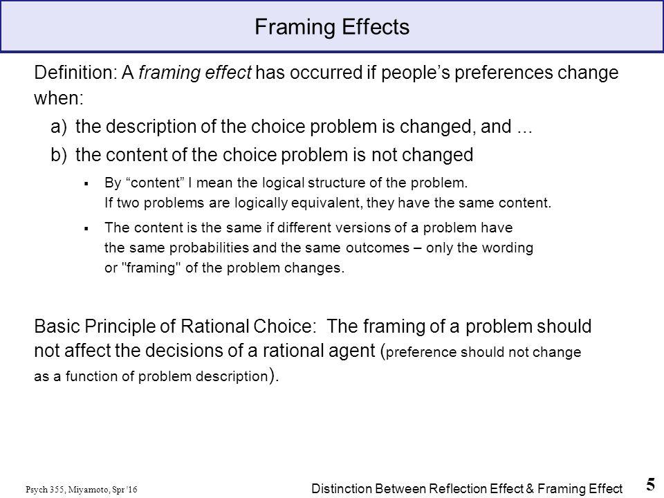 Framing Effect Psychology Examples | Framesite.co