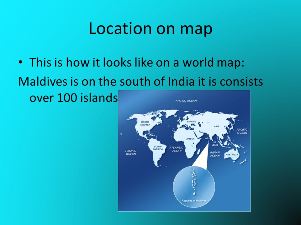 World Maldives Map Terrorists are very