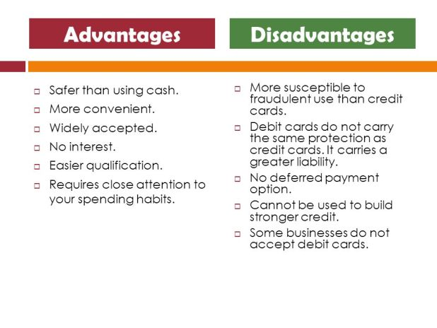 Debit card advantages and disadvantages howtoviews business credit cards advantages and disadvantages choice image reheart Image collections