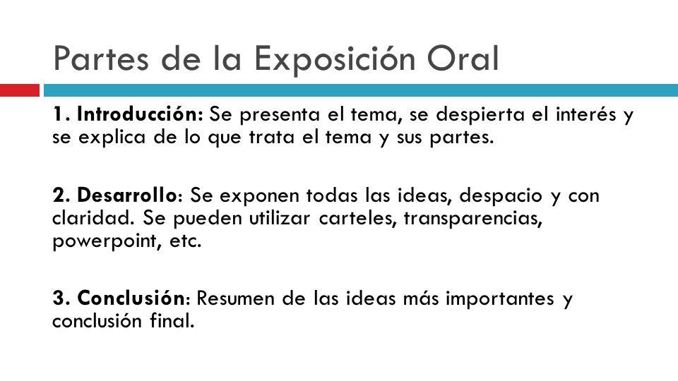 Resultado de imaxes para exposición oral introducción