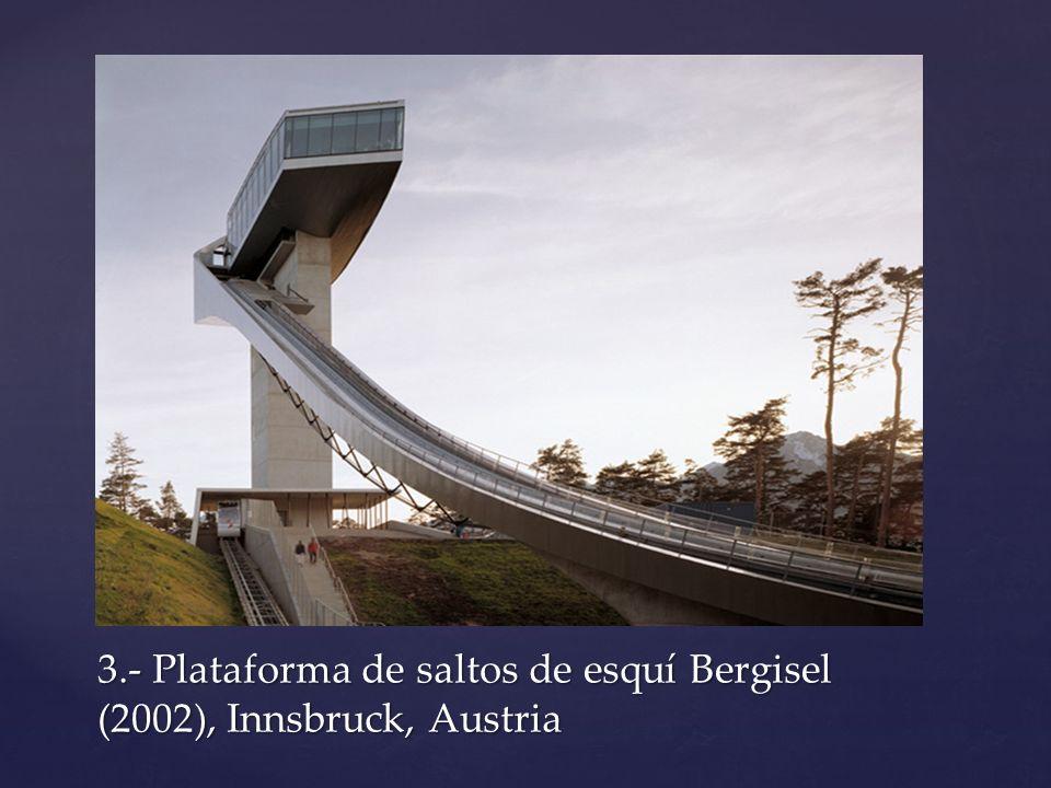 Resultado de imagen de plataforma de saltos de esquí bergisel