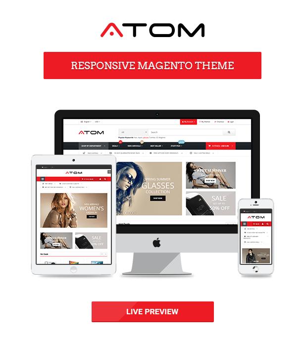 "Atom - Responsive Magento theme ""title ="" Atom - Responsive Magento theme"