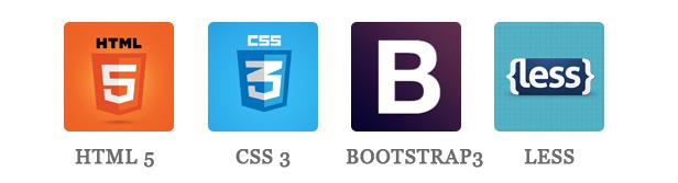 Milan - HTML5, CSS3, BOOTSTRAP & LESS