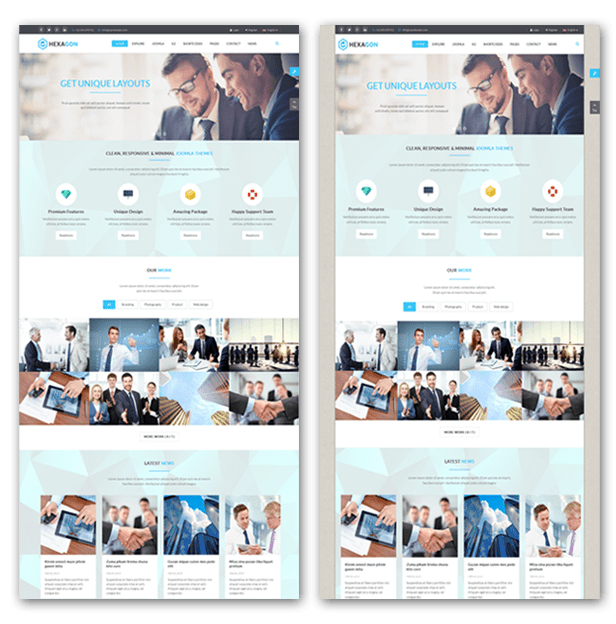 FULL WIDTH & BOXED LAYOUTS