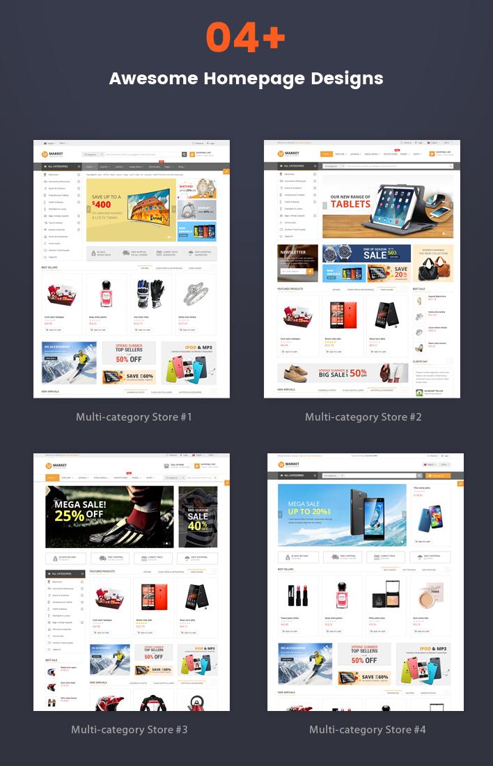 Sj Market - Responsive Joomla eCommerce VirtueMart 3 Template