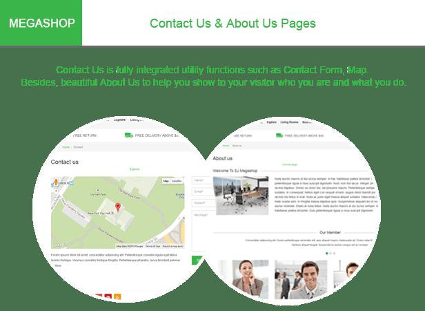 Megashop-Contact us page