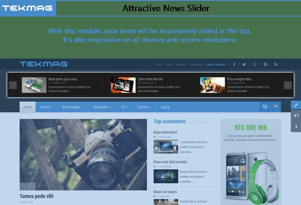 SJ Tekmag - News Slider with K2 Extra Slider Module