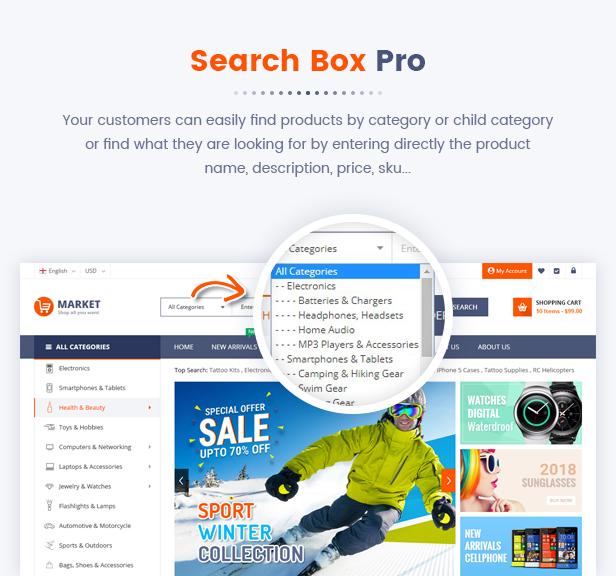 Best Magento 2 Themese - searchbox