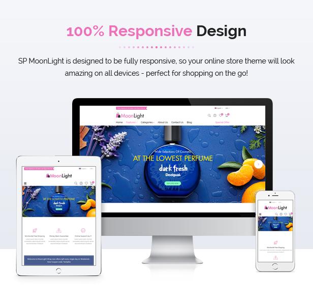 MoonLight - Modern Responsive PrestaShop 1.7 Cosmetics Theme - 2