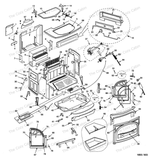 Defiant Woodburning Stove (1945) The Cozy Cabin Stove