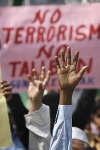 Image Credit: AP, Anti-Taliban Rally