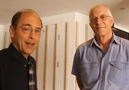 The YouTube footage of Richard Cage (left) and Jan Utzon.