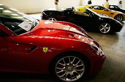 Ferrari for auction.