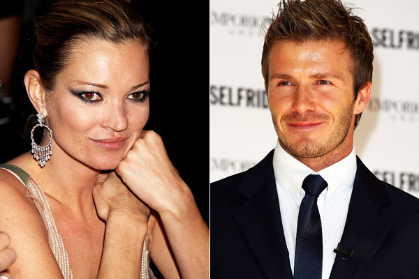 Leaders in erotic capital ... Kate Moss and David Beckham.