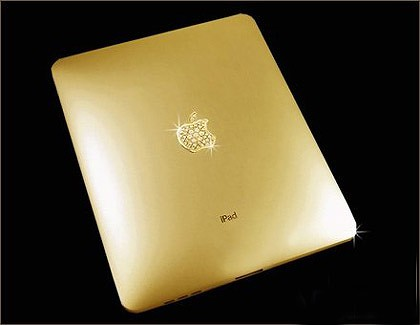 Golden delicious ... The gold-plated iPad that is for sale by  Stuart Hughes.